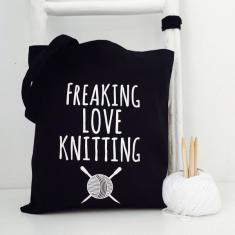 Freaking love knitting project bag