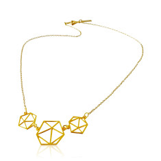 Short Geodesic necklace in gold or silver