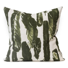 Amanteca Urban Aztec Cushion Cover in Olive Green