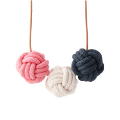 Singapore nautical knot necklace