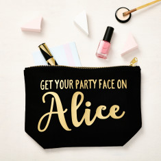 Get Your Party Face On Makeup Pouch