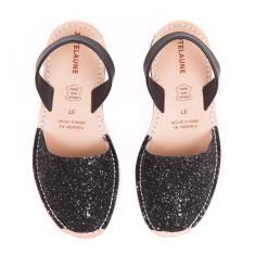 Glitter Black Avarcas Sandals