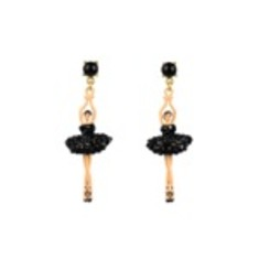 Ballerina Earrings - Sparkling Black