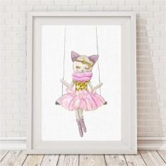 Kitten Sparkle Swing Print