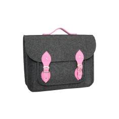 Dark grey felt laptop bag