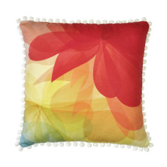 Bright Summery Red and Yellow Cushion