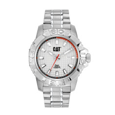 CAT Alaska series watch in steel with white face