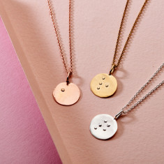 Personalised Embossed Braille Disc Necklace