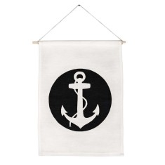 Anchor handmade wall banner