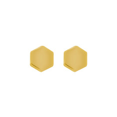 Golden hexagon studs