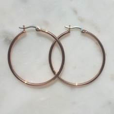 Cleo hoop earrings in rose gold