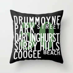 Sydney bus route M50 cushion cover