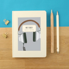 Personalised Headphones Notebook