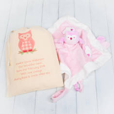 Owl Baby Comfort Blanket And Personalised Gift Bag