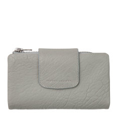 The fallen leather wallet in light grey