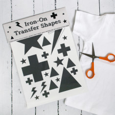 Iron On Swiss Cross And Stars Transfer