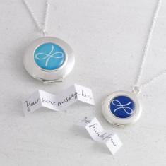 Personalised Friendship Locket Necklace