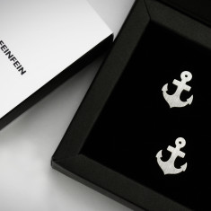 Anchor Cufflinks in Sterling Silver