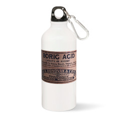 Boric Acid Label Water Bottle