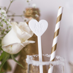 Personalised Couple's Drink Stirrers