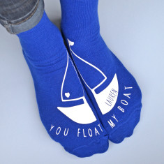 You float my boat personalised socks