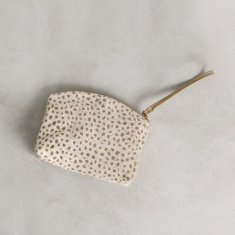 Marie clutch in almond cheetah