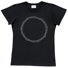 Men's circle black t-shirt