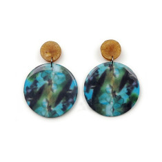 Resin Statement Earrings - Green Envy