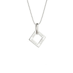 Mabel personalised sterling silver pendant
