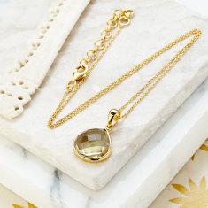 Hera pendant necklace with lemon quartz
