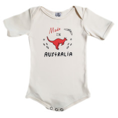 Organic cotton made in Australia onesie