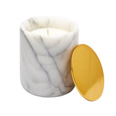 Marble candle with gold lid (various scents)