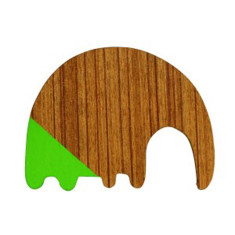 Green elephant magnet