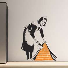 Banksy Maid wall stickers