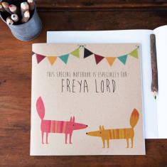 Personalised fox notebook