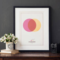 Personalised couple's Venn print