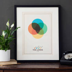 Personalised family Venn print
