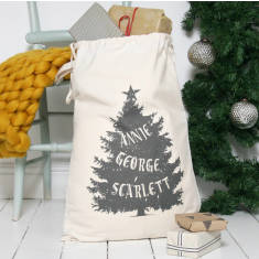 Personalised Family Christmas Sack