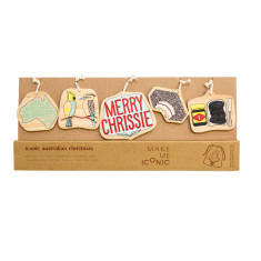 Iconic Aussie Christmas decorations design 2 (set of 5)