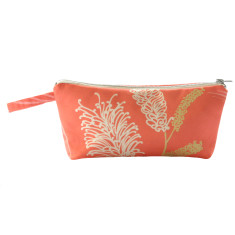 Grevillea makeup purse in coral