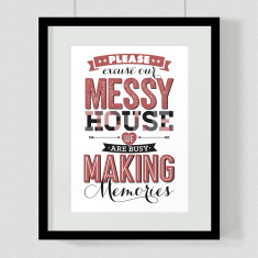 Making memories quote art print