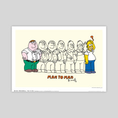 Man to man by Dick Frizzell art print
