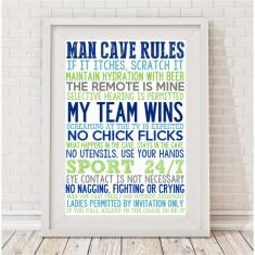 Man cave rules print