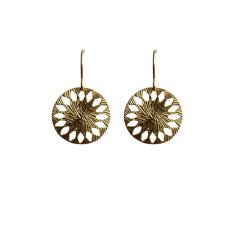 Mandala-inspired earrings in gold