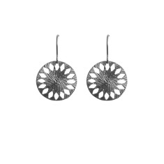 Mandala inspired earrings in silver