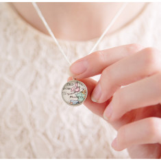 Map personalised charm pendant