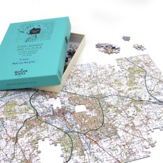 Customised UK map jigsaw puzzle (choose your location)