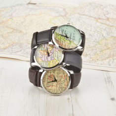 Men's personalised map location watch