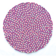 Girls' felt ball rug (various colours)