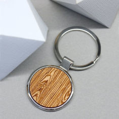 Woodgrain key ring
